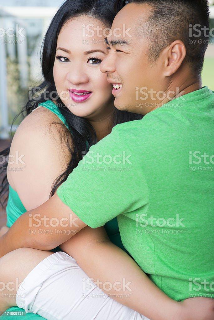 Happy Asian couple portrait royalty-free stock photo