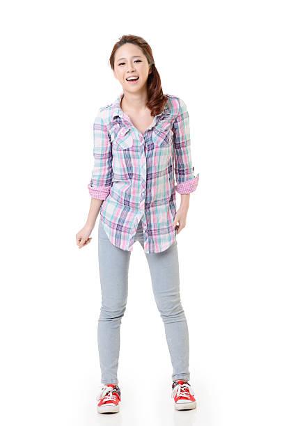 Happy Asian girl stock photo