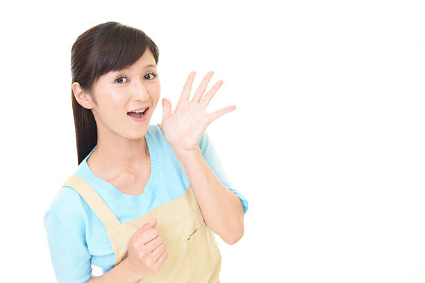 なアジアの主婦 ストックフォト