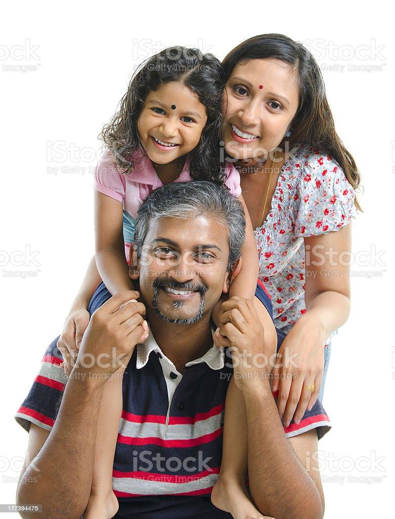 Happy Asian Indian family stock photo