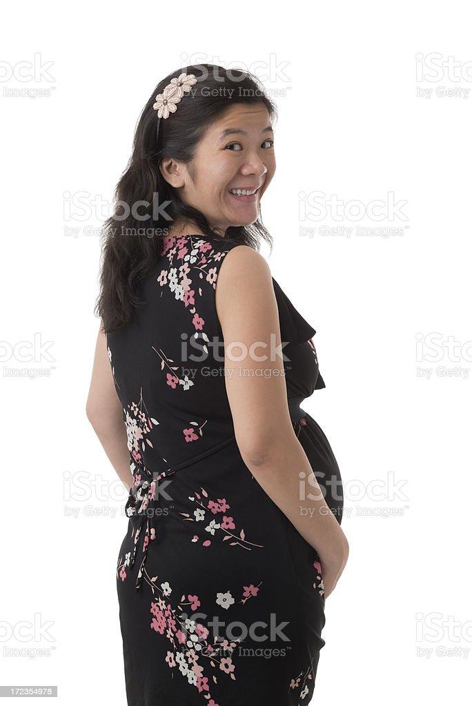 Happy Asian pregnant woman royalty-free stock photo