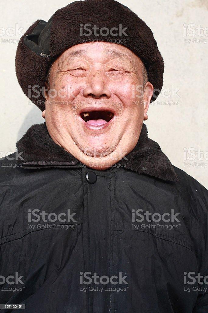 happy asian senior man royalty-free stock photo