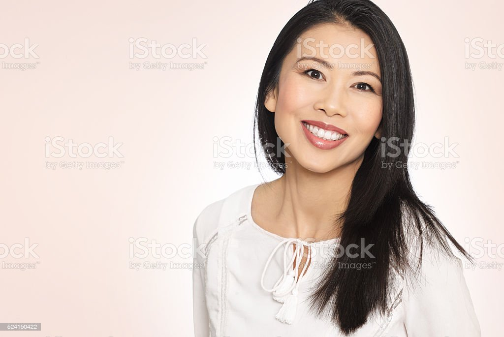 Heureuse femme asiatique - Photo