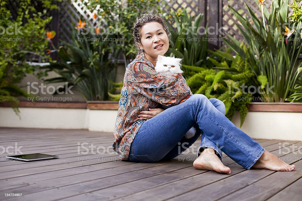 Happy Asian Women stock photo