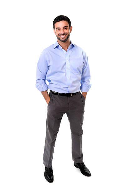 Glücklich attraktive business-Mann, stehend im corporate Porträt – Foto