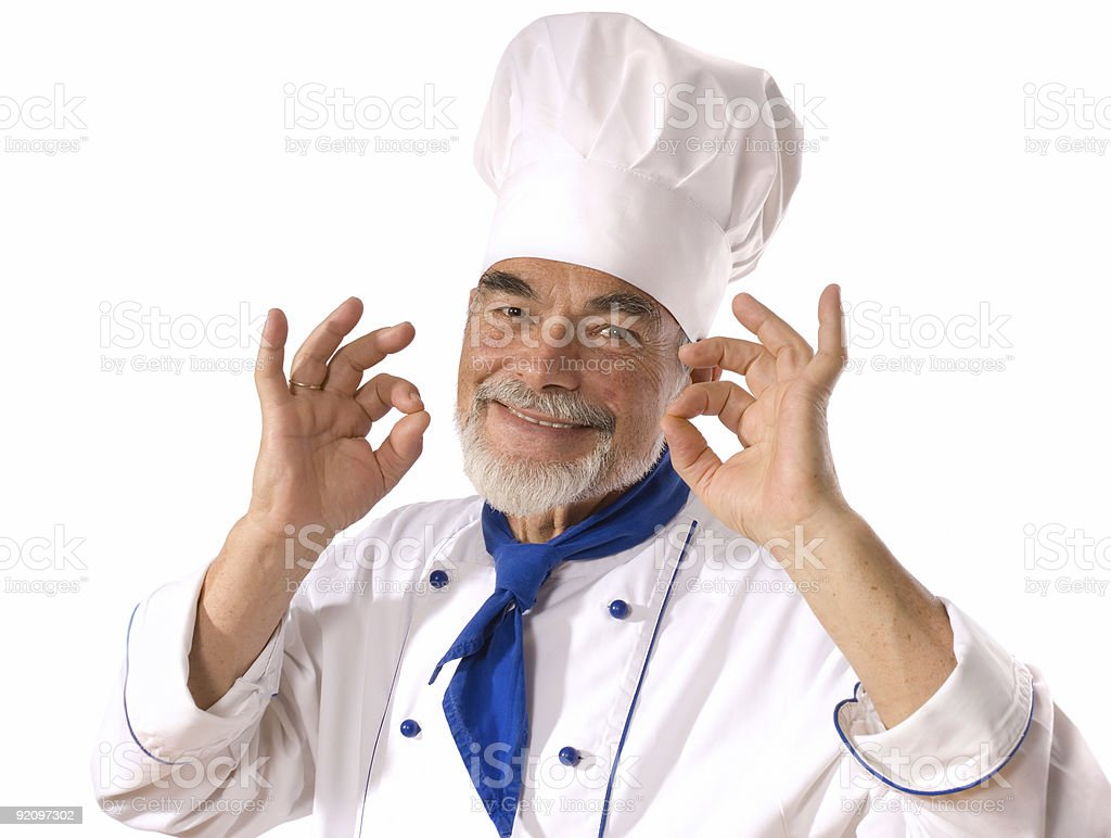 happy attractive cook royalty-free stock photo