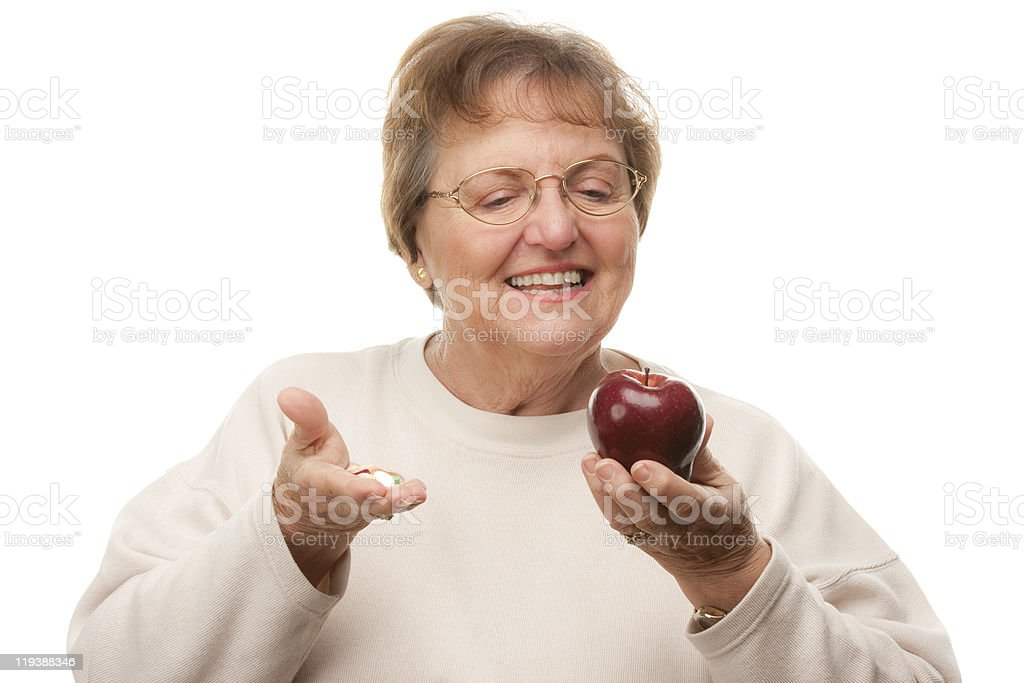 Happy Attractive Senior Woman royalty-free stock photo