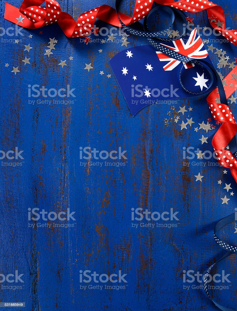 Happy Australia Day, January 26, theme background stock photo