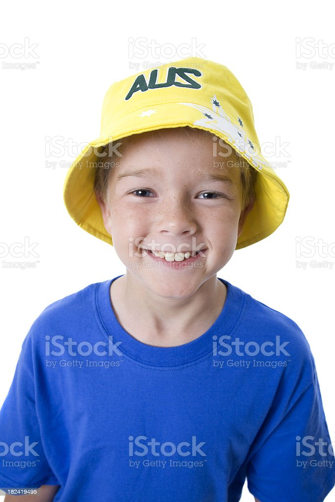 Happy Australian Child stock photo