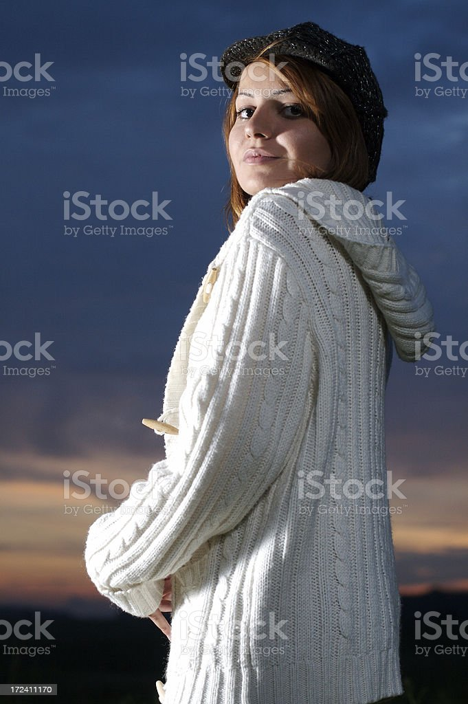 Happy Autumn Girl stock photo