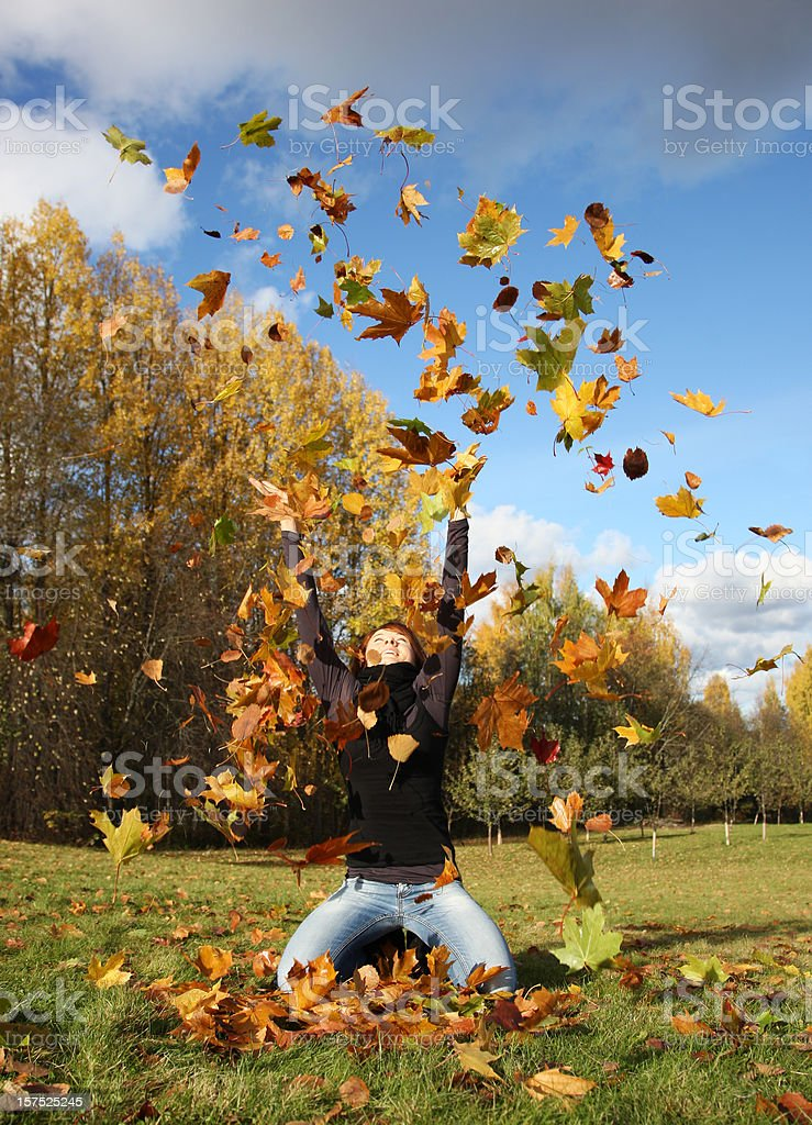 Glücklich Herbst - Lizenzfrei Abgeschiedenheit Stock-Foto
