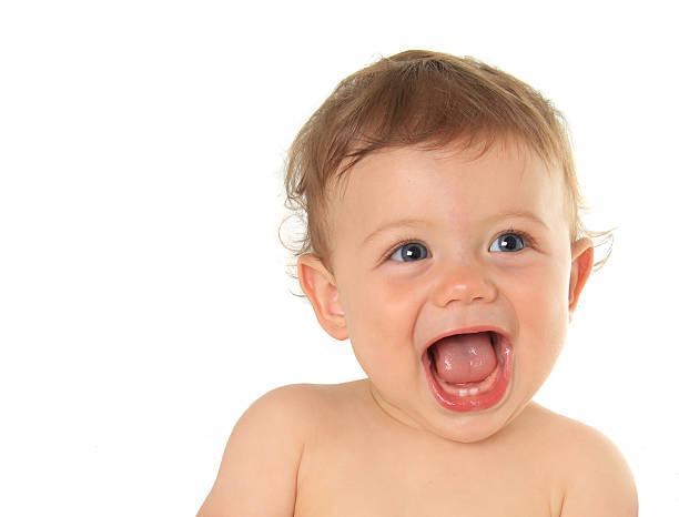 happy baby boy - baby teeth stok fotoğraflar ve resimler