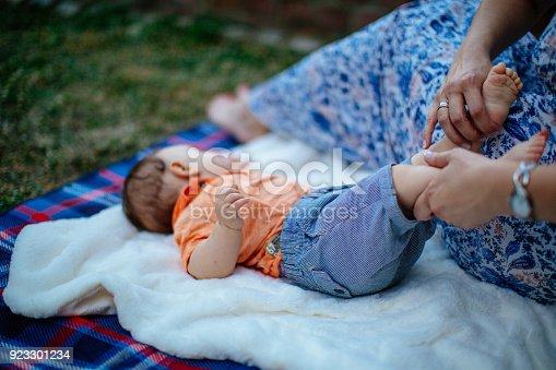 istock Happy baby boy with parents 923301234