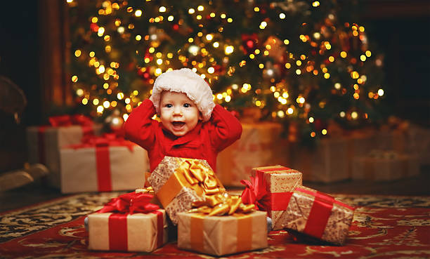 Happy baby by christmas tree with gifts picture id618611484?b=1&k=6&m=618611484&s=612x612&w=0&h=mxgrmms4d4fdstqjodthydz2hsnnf74adme0i4kkkw0=