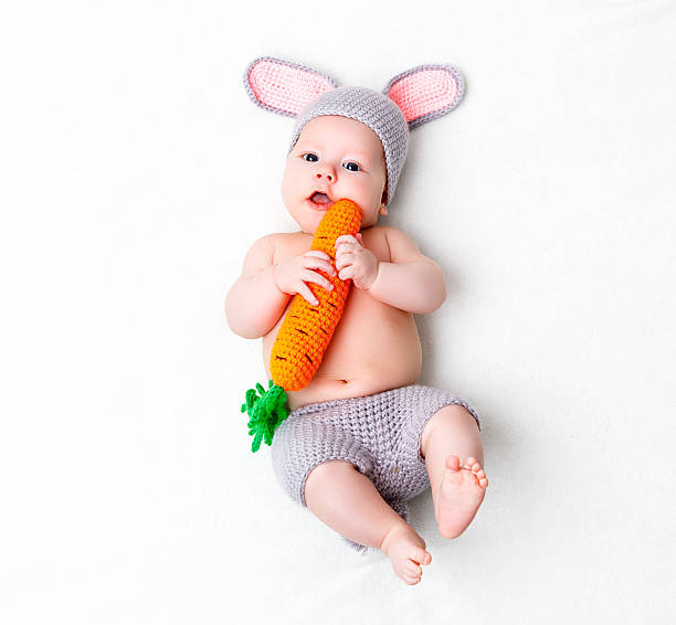 Happy baby child in costume a rabbit bunny with carrot picture id518758422?b=1&k=6&m=518758422&s=612x612&w=0&h=thsu3n083gx3jictcei  dwc4z0fimqt1udpwxuumu8=