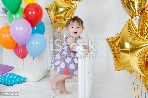 istock Happy baby on his first birthday 875264940