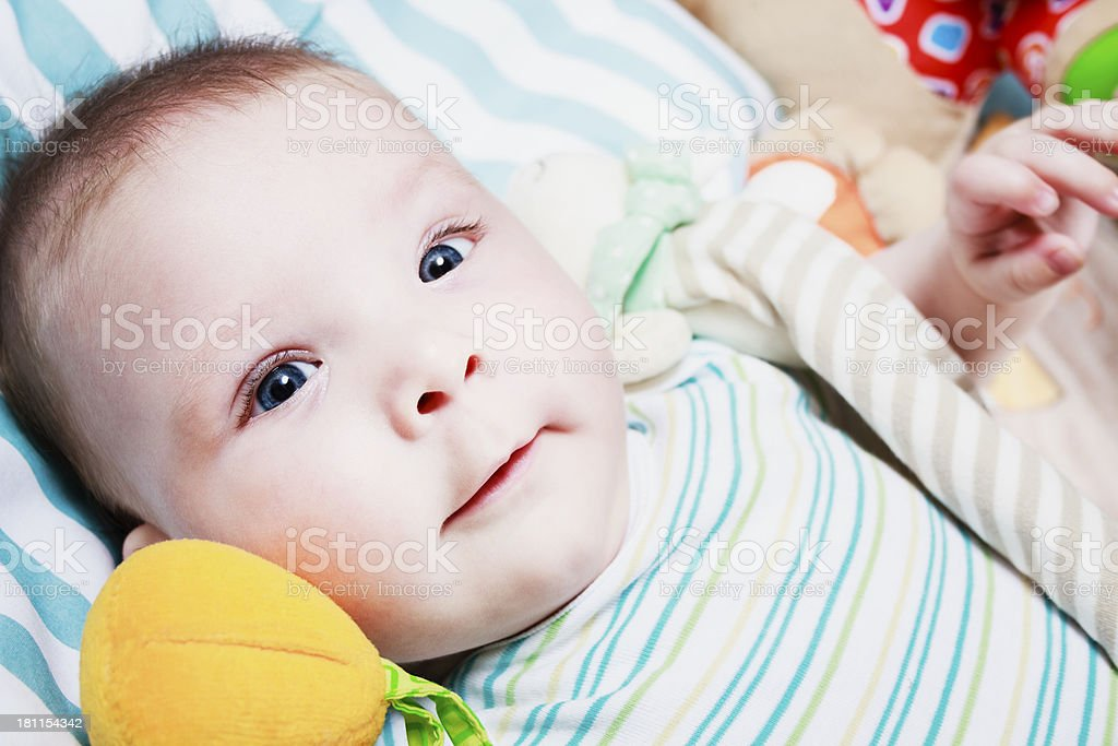 Happy baby royalty-free stock photo