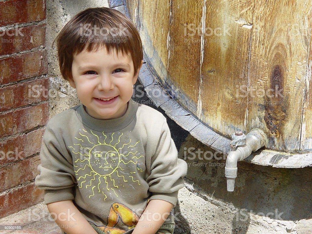 Happy Baby Porträt Lizenzfreies stock-foto