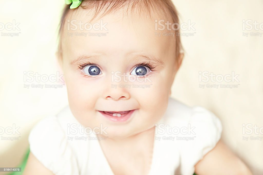 Happy Baby Smiling stock photo