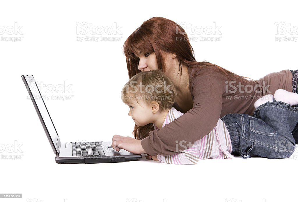 happy baby with laptop #13 royalty-free stock photo