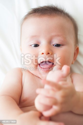 149051793 istock photo Happy Baby with smiling 483807868