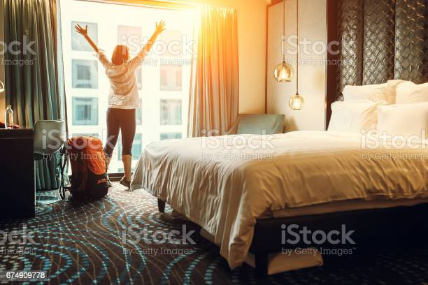 Happy backpacker traveller stay in high quality hotel picture id674909778?b=1&k=6&m=674909778&s=612x612&h=xeu8p pdguhcbp3gqekxwqrnigzqkyjjqg71zv jzdk=