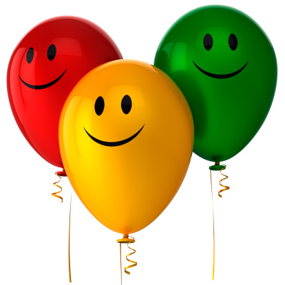 istock Happy balloons birthday party decoration Smile with me icon concept 150442591