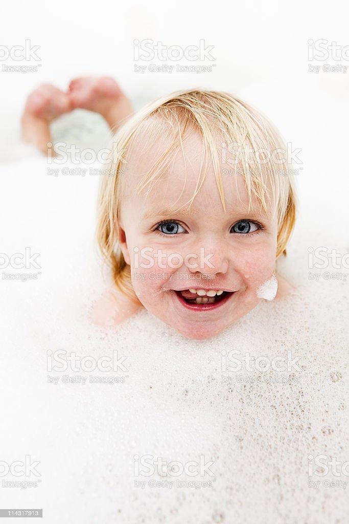 Happy bath time royalty-free stock photo