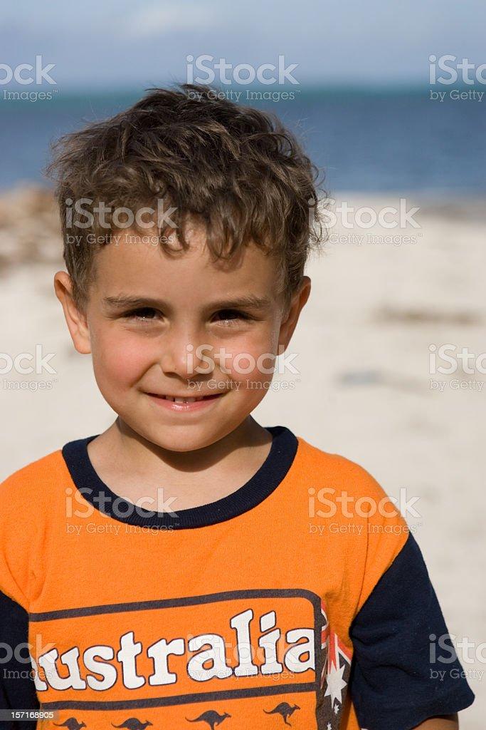 happy beach boy royalty-free stock photo
