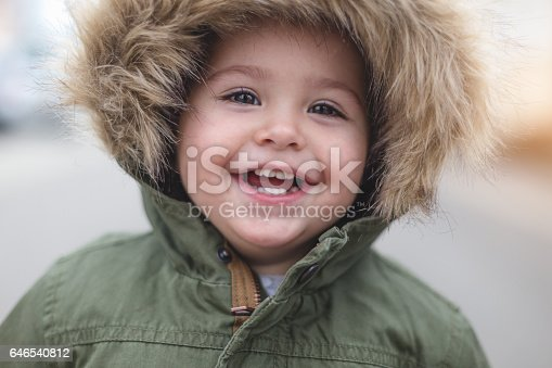 149051793 istock photo Happy beautiful toddler girl close up 646540812