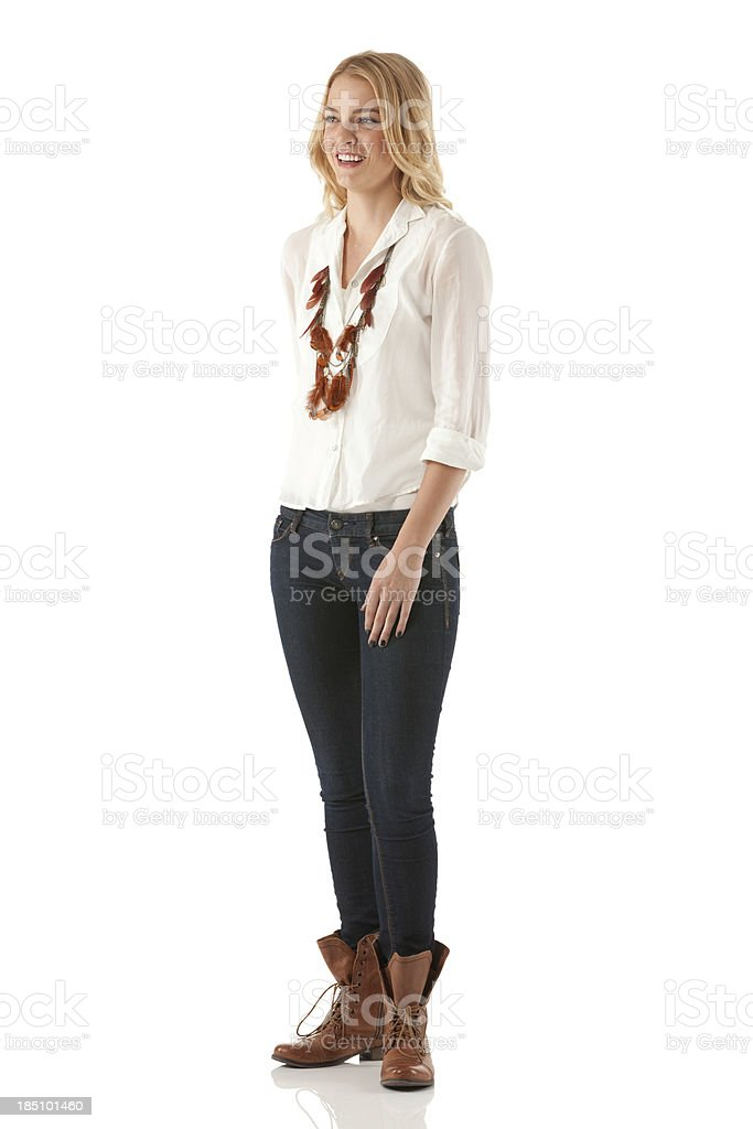 Happy beautiful woman stock photo