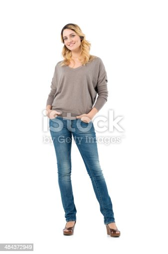 istock Happy Beautiful Woman 484372949