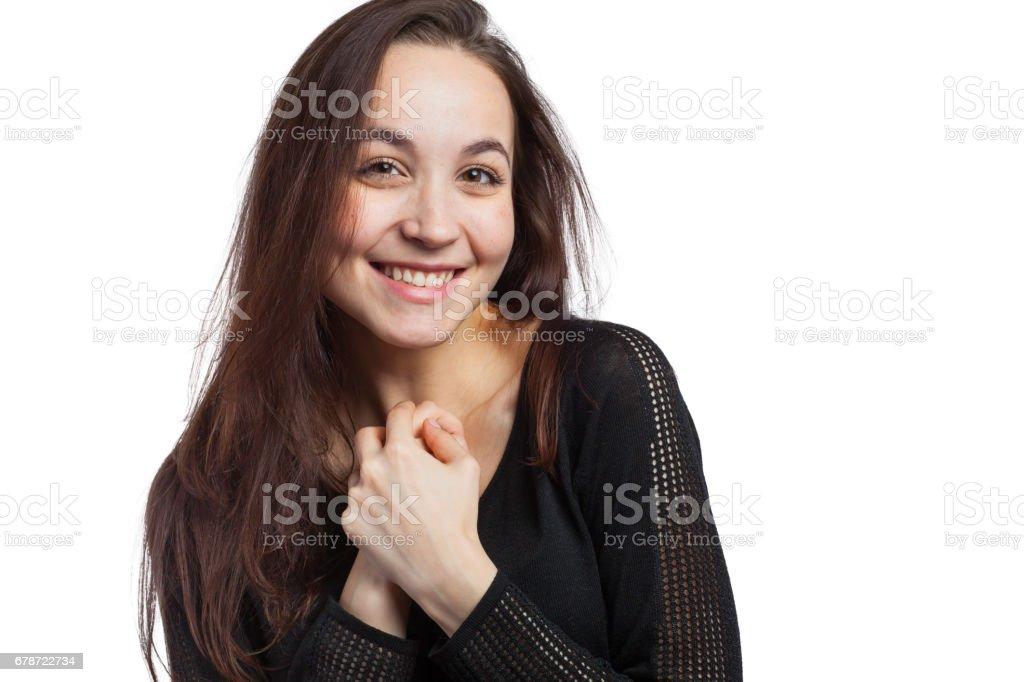 Happy beautiful woman photo libre de droits