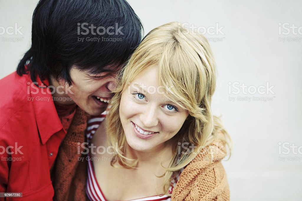 Happy beautiful young couple royalty-free stock photo