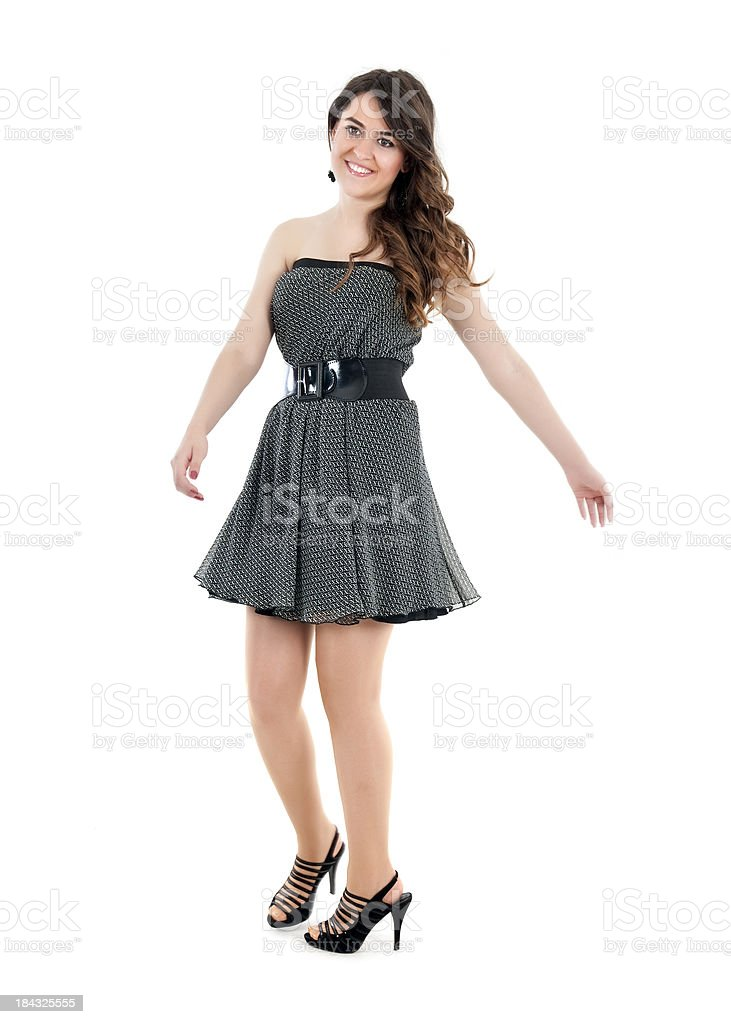 Happy beautiful young lady royalty-free stock photo