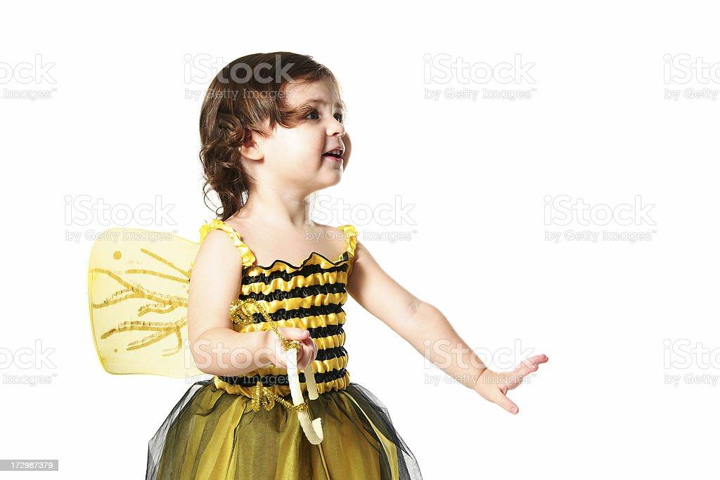 Happy Bee stock photo
