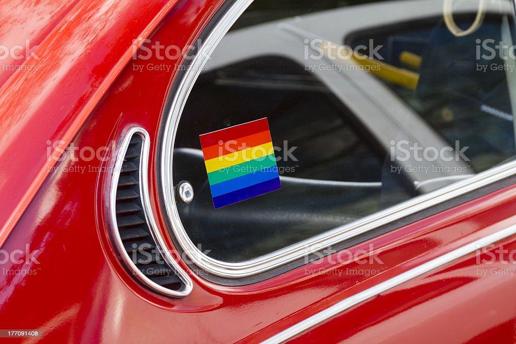 Happy beetle royalty-free stock photo