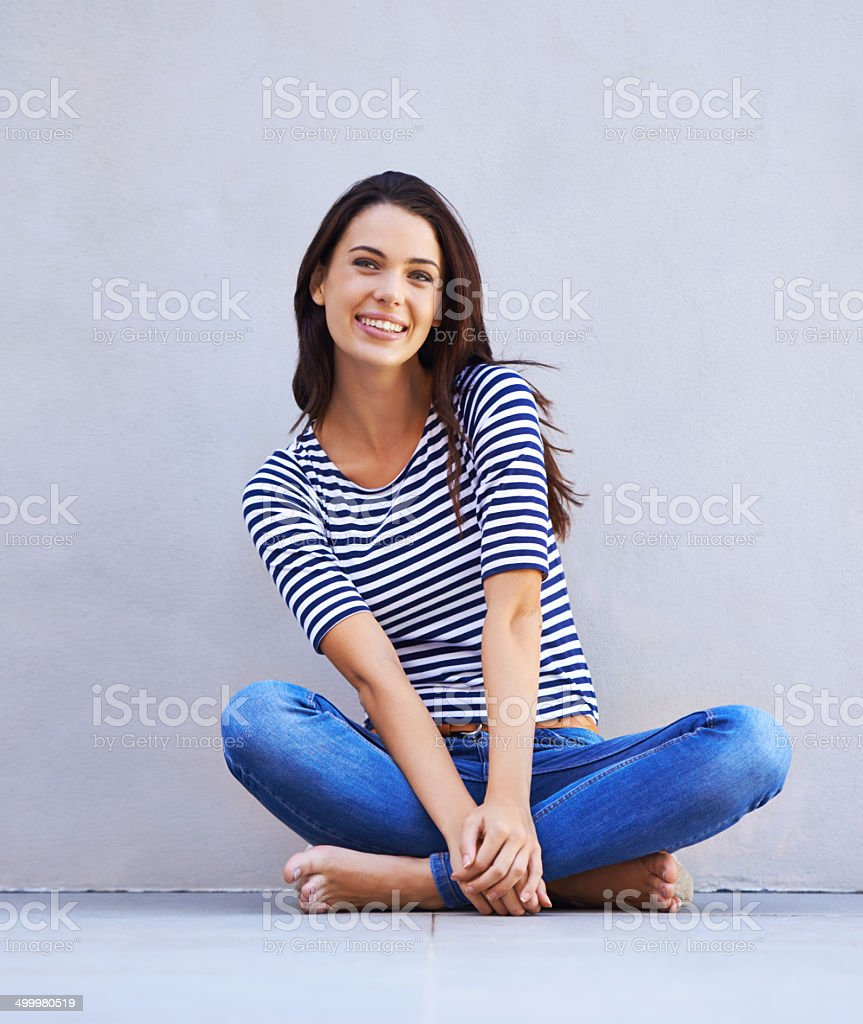 Happy being me stock photo