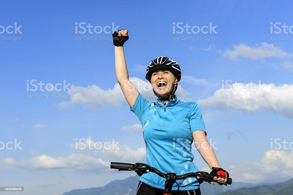 happy bike ride royalty-free stock photo