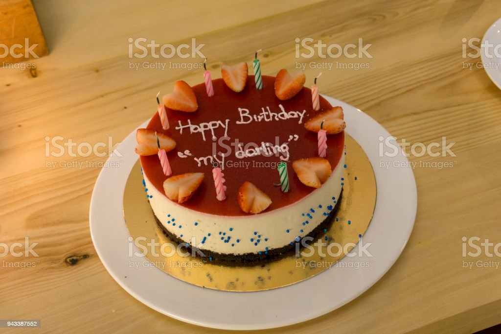 Tremendous Happy Birth Day Blueberry Cheese Cake For Lover Or Darling With Funny Birthday Cards Online Alyptdamsfinfo