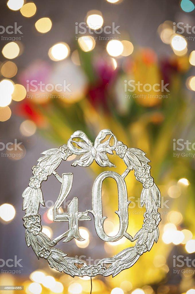 Buon Compleanno Di 40 Anni Fotografie Stock E Altre Immagini Di 40