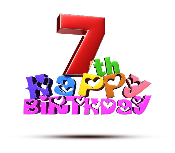 Happy 7th Birthday Stock Photos, Pictures & Royalty-Free ... (612 x 536 Pixel)