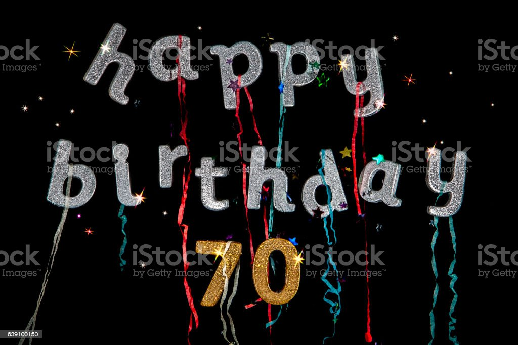 Happy Birthday 70 Years Old Lizenzfreies Stock Foto