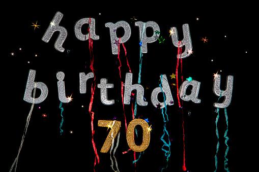 Happy Birthday 70 Years Old Stockfoto Und Mehr Bilder Von 79 Jahre