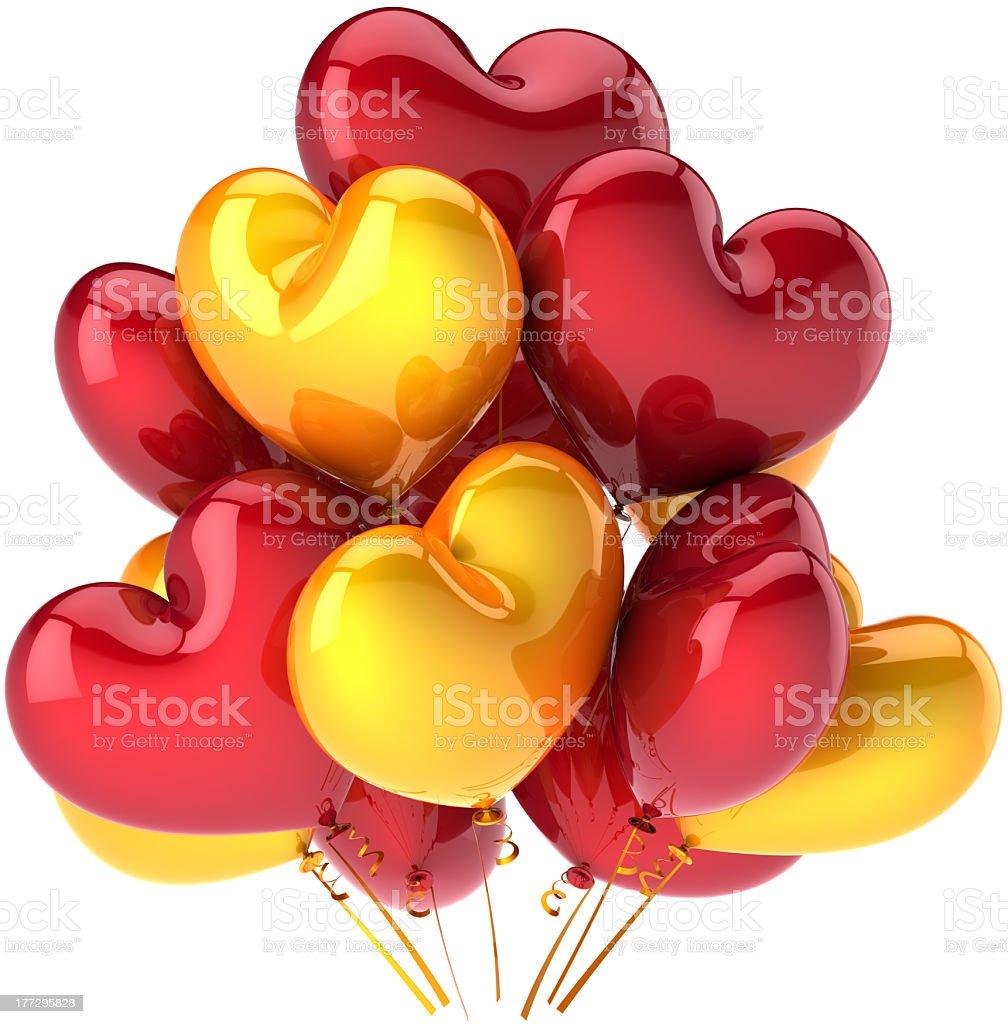 Decorazione Festa Di Buon Compleanno Palloncini A Forma Di Cuore