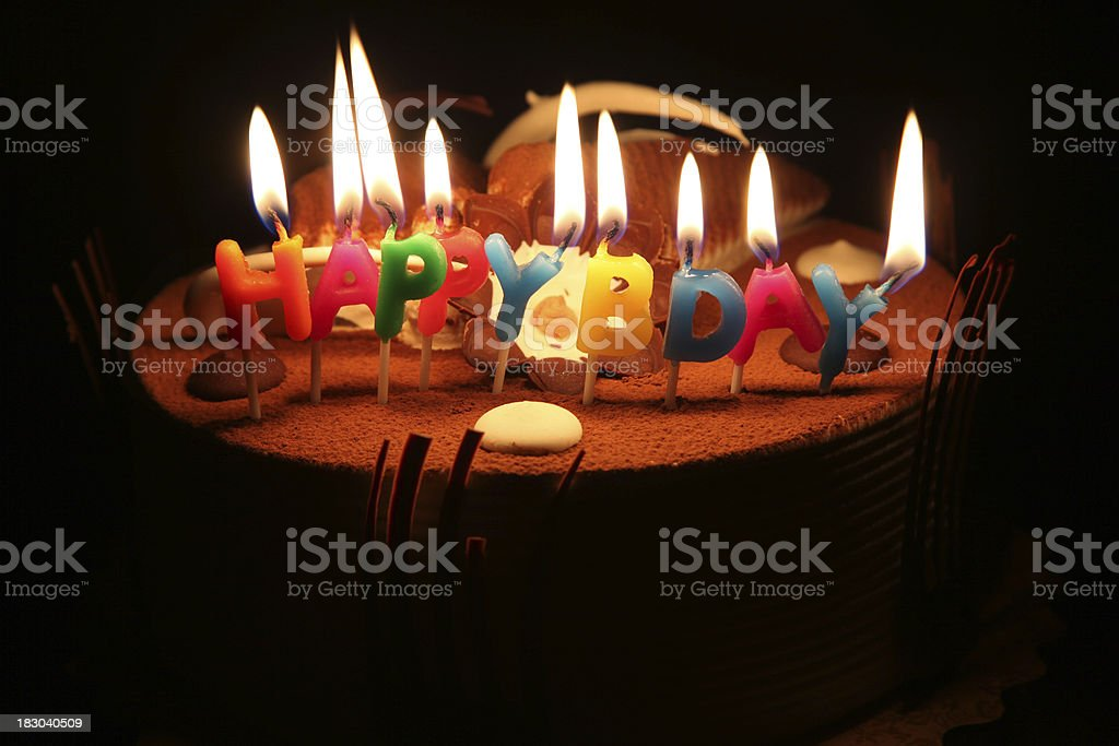Happy Birthday Cake And Candles Stock Photo More Pictures Of