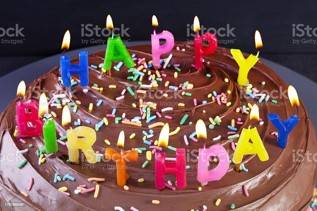 Fantastic Happy Birthday Cake Candles Stock Photo Download Image Now Istock Personalised Birthday Cards Veneteletsinfo