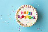 istock Happy birthday cake 1223237714