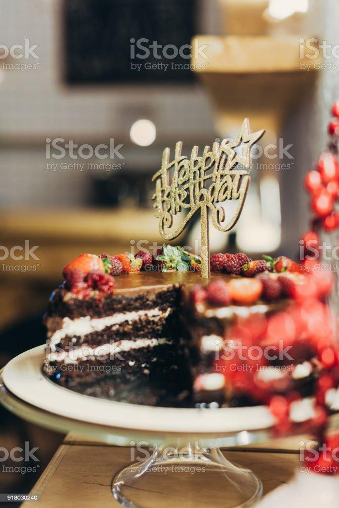 Groovy Happy Birthday Cake Stock Photo Download Image Now Istock Funny Birthday Cards Online Inifofree Goldxyz