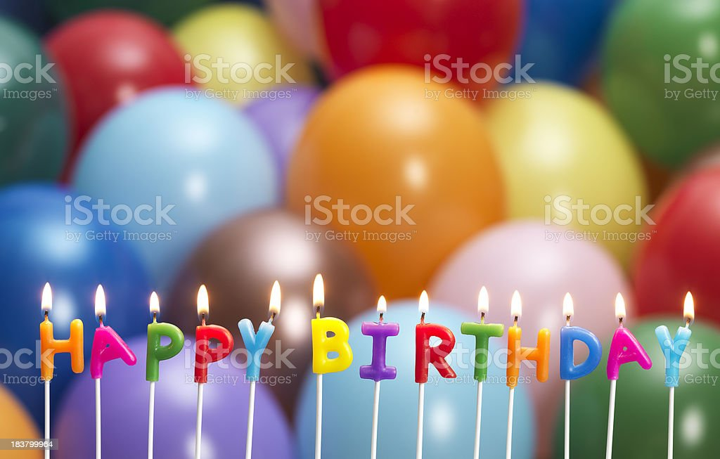 happy birthday candle royalty-free stock photo